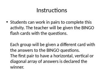 Fraction Review BINGO