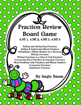 Fraction Review Board Game