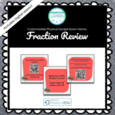 Fraction Review Customizable Escape Room /  Breakout Game