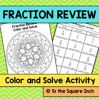 Fraction Review Color and Solve