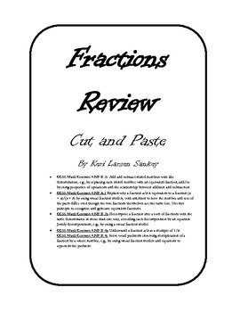 Fraction Review Cut and Paste