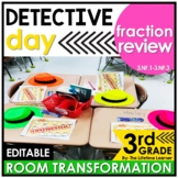 Fraction Review - Detectives Real World Fractions Math Activity