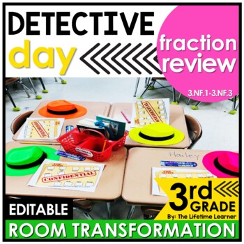 3rd Grade Fraction Review - Detectives Classroom Transformation