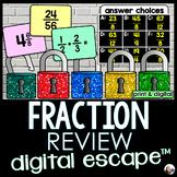 Fraction Review Digital Math Escape Room