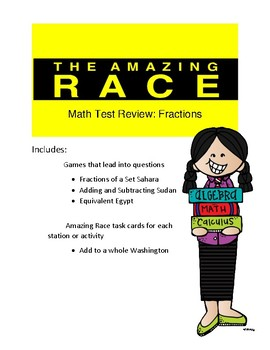 Fraction Math Review Game Amazing Race Theme