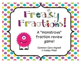 Fraction Review Game: Freaky Fractions Common Core Aligned