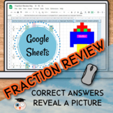 Fraction Review - Google Sheets Picture Reveal