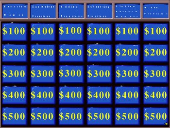Fraction Review Jeopardy