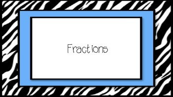 Fraction Review- Multiple Choice