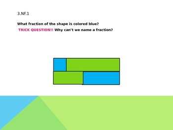 Fraction Review Power Point third grade