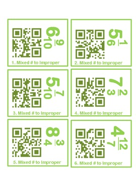 Fraction Review QR Codes