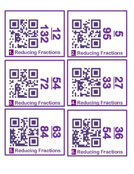 Fraction Review QR Codes