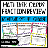 Fraction Review Task Cards | Reviews 3rd and 4th Grade Fra
