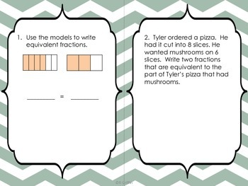 Fraction Review Task Cards and Printables with QR codes