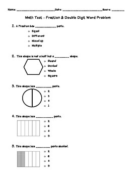 Fraction Review Test