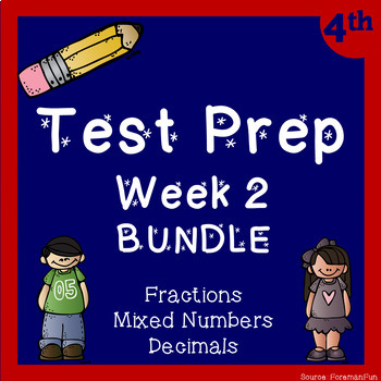 Fraction Test Prep BUNDLE! ~ 4th Grade Math ~ CCSS