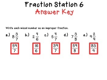 Fraction Review Walk About