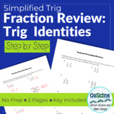 Fraction Review for Trig Identities