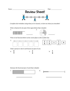 Fraction Review sheet