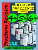 Fractions - Task Cards - Challenges - Grade 4, Grade 5, and Grade 6