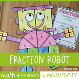 Fraction Robot Mathtivity Craft