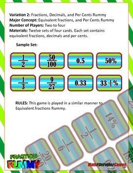 Fraction Rummy {Math Game}