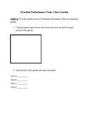 Fraction SBAC Performance Task: School Garden