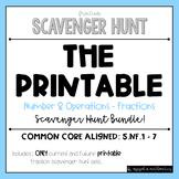 Grade 5 Fraction Scavenger Hunt BUNDLE (Includes 10 sets + Bonus set!)