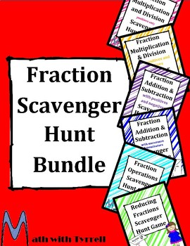 Fraction Scavenger Hunt Bundle