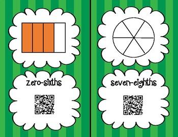 Fraction Scavenger Hunt QR Code Cards