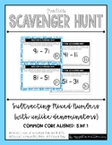 Fraction Scavenger Hunt #4: Subtracting Mixed Numbers (with Regrouping)