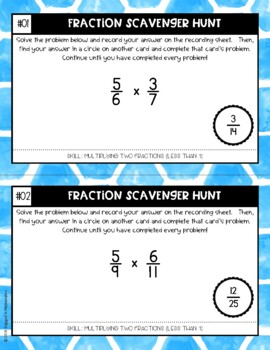Fraction Scavenger Hunt Set 5: Multiplying Fractions