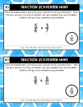 Fraction Scavenger Hunt Set 5: Multiplying Fractions