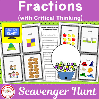 Fraction Scavenger Hunt (with Critical Thinking)