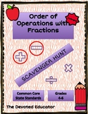 Fraction Scavenger Hunt with Order of Operations (Adding & Subtracting)