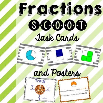 Fraction Scoot Game and Posters
