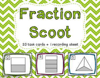 Fractional Parts of a Whole Scoot/Task Cards
