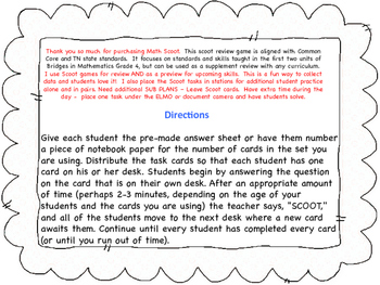 Fraction Scoot for Test prep and Review