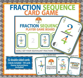 Equivalent Fractions - Sequence Card Game for Math Centers