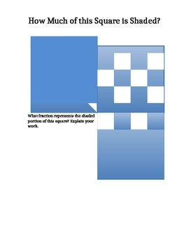 Fraction Shaded Squares