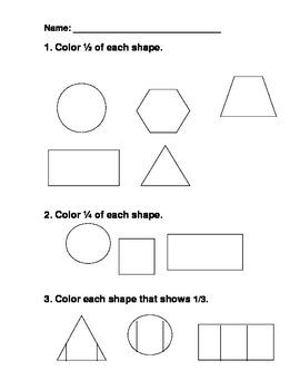 Fraction Shapes