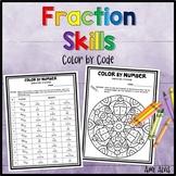 Fraction Skills Color by Code Valentine