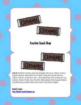 Fraction Snack Shop