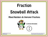 Fraction Snowball Attack: Mixed Numbers and Improper Fractions