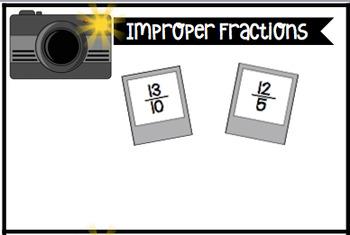 Fraction Sort: Unit, Proper, Improper and Mixed Numbers