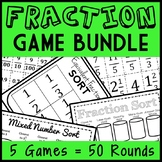 Ultimate Fraction Game Bundle, Math Centers, Montessori, 50 Total Number Sorts