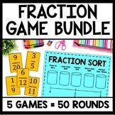 Ultimate Fraction Game Bundle, Math Centers, Montessori, 5