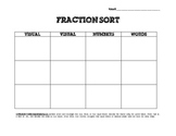 Fraction Sort Aligned to 2nd Grade Common Core Standards
