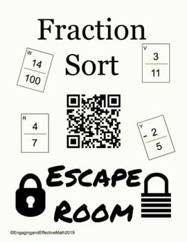 Fraction Sort Digital Escape Room