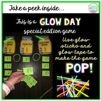 Fraction Sort Game Comparing Fractions GLOW DAY ACTIVITY